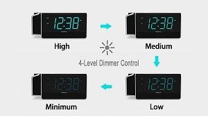 Dimmbares-Display-iTOMA-Projektionswecker