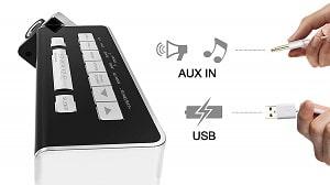 iTOMA Projektionswecker mit AUX-In und USB